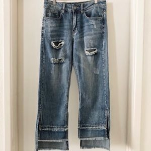 Current Air NWT Distressed Layered Fray Hem Jeans
